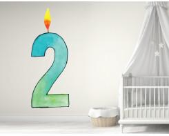 מדבקת גיל משתנה לחדר תינוקות