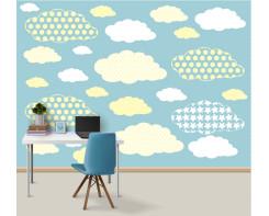 טפט מדבקה לקיר עננים
