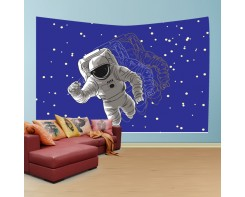 לונג- טפט בד לקיר בסגנון אסטרונאוט משוכפל