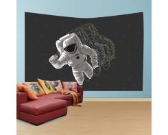 לונג- טפט בד לקיר בסגנון אסטרונאוט משוכפל2