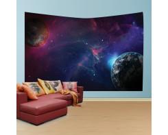 לונג- טפט בד לקיר של חלל סגול