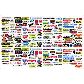 260 מדבקות לוגוים של חברות במידות שונות