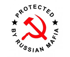 "זוג מדבקות ""Protected by Russian Mafia"""
