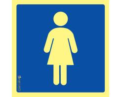 """שלט שירותי נשים PVC גודל 15X15 ס""""מ"""
